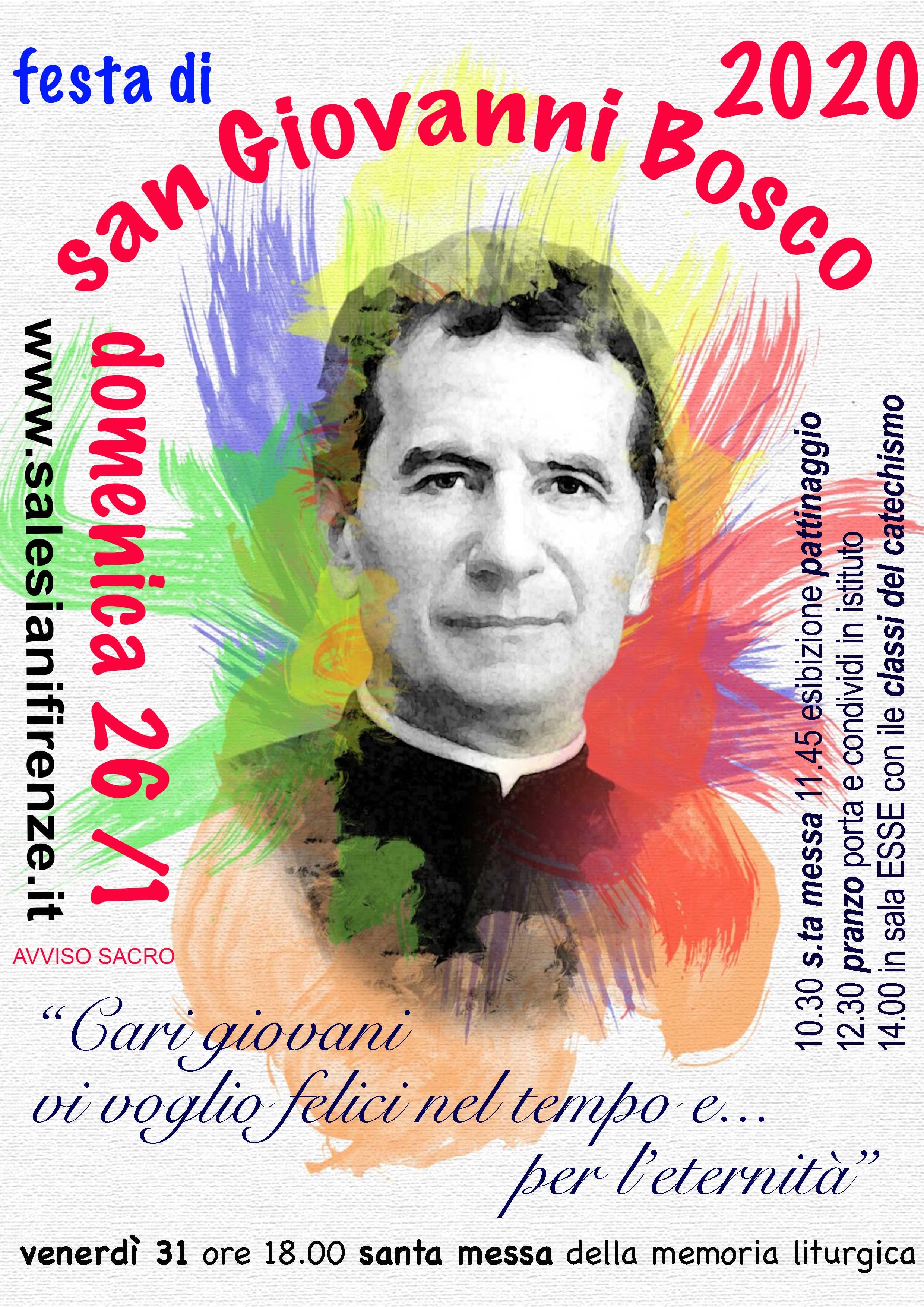 Festa Di Don Bosco 2020 Salesiani Firenze